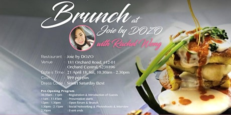 Brunch with Rachel at Joie By Dozo (*Free Preview ) tickets