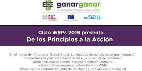 """Ciclo WEPs """"De los Principios a la Acción"""" entradas"""