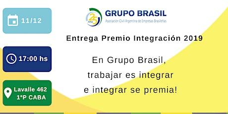 Entrega Premio Integración 2019 tickets