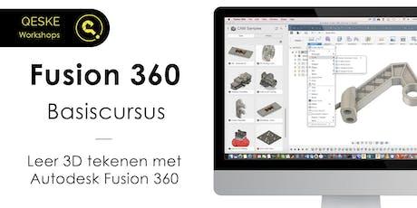 Fusion 360 Basiscursus - Leer 3D tekenen met Autodesk Fusion 360 tickets