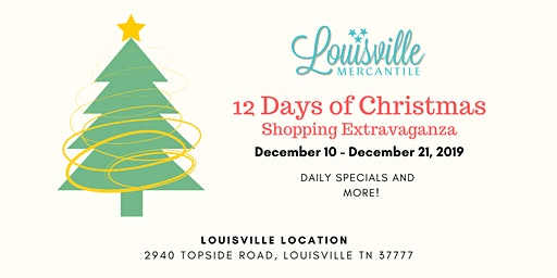 12 Days of Christmas Shopping Extravaganza