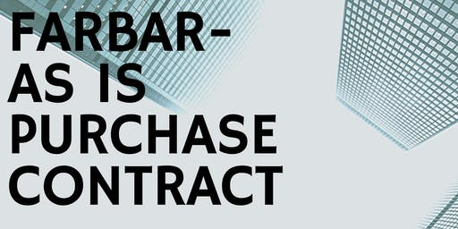 FARBAR As Is Purchase Contract w/ John Whitesell