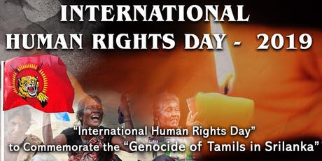 International Tamil Human Rights Day 2019 tickets