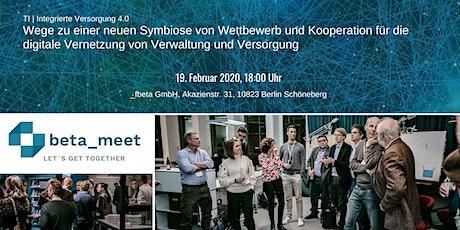TI | Integrierte Versorgung 4.0: Wettbewerb und Kooperation bei Vernetzung Tickets