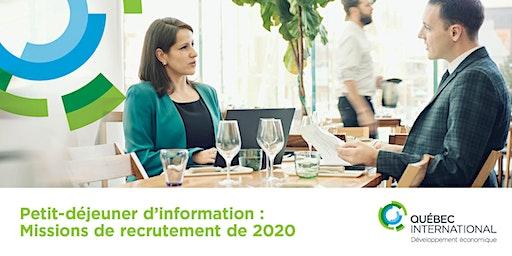 Petit-déjeuner d'information sur les missions de recrutement de 2020