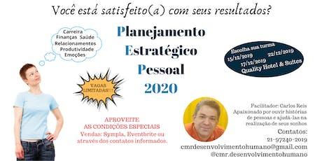 Planejamento Estratégico Pessoal 2020 ingressos