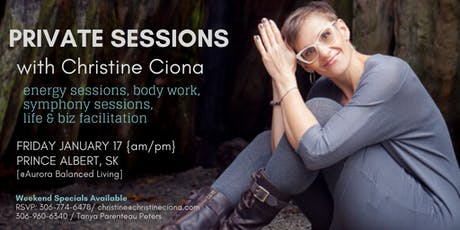 PRIVATE SESSIONS WITH CHRISTINE @aurora balanced living PRINCE ALBERT tickets