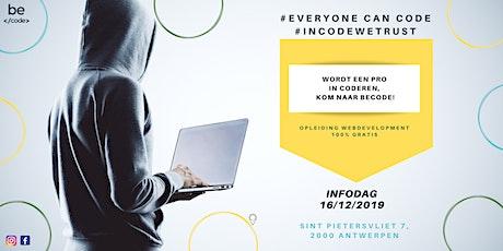 Infosessie  Web development Antwerpen billets