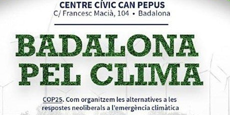 Assamblea oberta; Badalona pel clima entradas