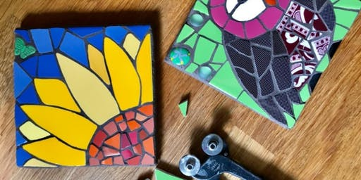 Mosaic Workshop with @judyjamjarmosaics- CreativeStirling Crowdfunder Award