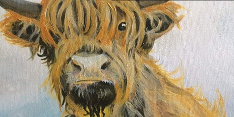 Heilan Coo' PaintnSip @blaeberryriverart-CreativeStirling Crowdfunder Award tickets