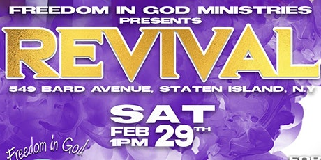 Freedom in God Ministries Presents: Revival tickets