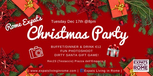 Rome Expats:Christmas Party! Photo Booth & Dirty Santa Game