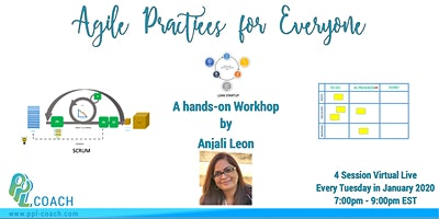 Agile Practices for Everyone (Virtual Live - 4, 2hr sessions)