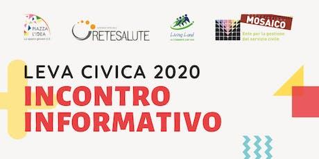 Incontro informativo – Leva Civica 2020 biglietti