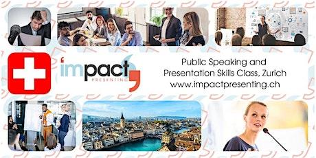 2-Day Zurich IMPACT Presenting - Public Speaking Class Tickets