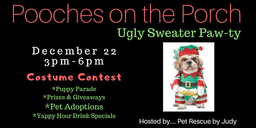 Pooches On The Porch Ugly Sweater Party