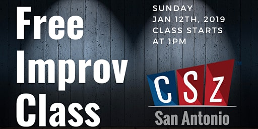 Free Improv Comedy Workshop - Intro to Improv - January 12