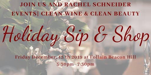 Holiday Sip and Shop Clean Beauty and Clean Wine