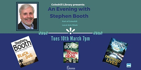 An evening with crime author Stephen Booth at Coleshill Library tickets