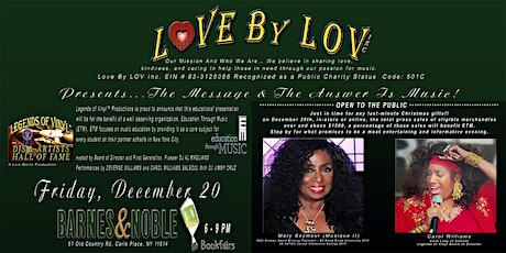 Love By LOV Presents The Message & The Answer Is Music! tickets
