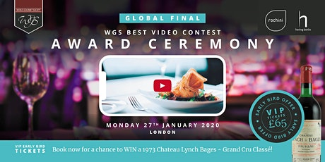 WGS Best Chef Video Award Ceremony and Dinner tickets