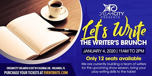 """DreamCity Presents """"Let's Write!"""" The Writers Brunch"""