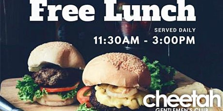 Cheetah's complimentary lunch tickets