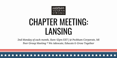 Woman Veteran Strong: Chapter Meeting (Lansing) tickets