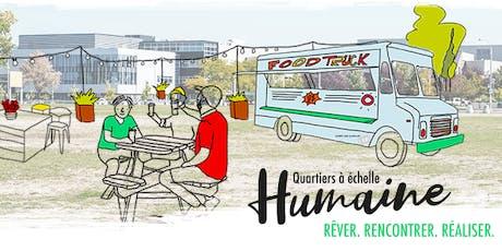 Lancement Génératrice d'innovation sociale Quartiers à échelle humaine billets
