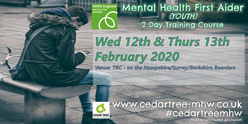 Mental Health First Aid (Youth) - 2 Day course