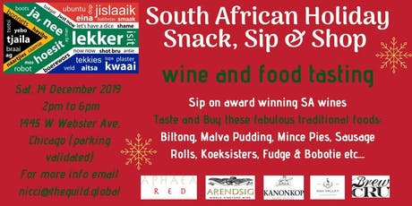 South African Holiday Snack, Sip & Shop tickets