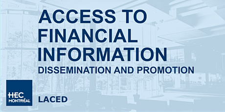 Access to Financial Information - Dissemination and Promotion tickets