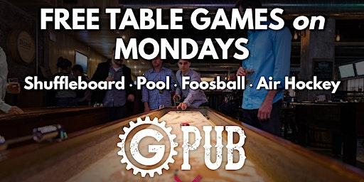Free Table Game Mondays at GPub