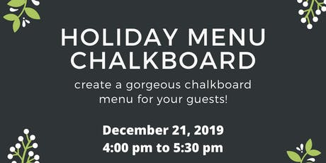 Letters and Dust: Holiday Menu Board tickets