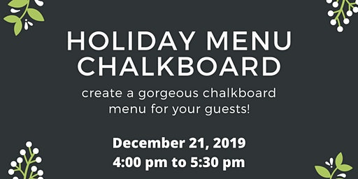 Letters and Dust: Holiday Menu Board
