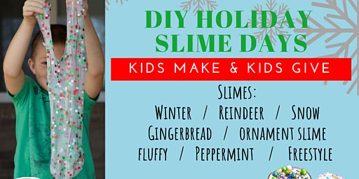 DIY Holiday Slime Making