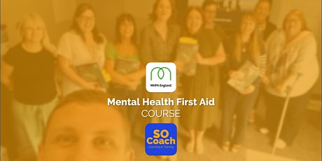 Mental Health First Aid Course in Wirral on the 14th & 15th May tickets