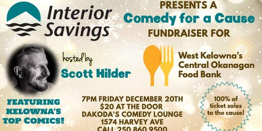 Interior Savings presents Comedy for a Cause for the West Kelowna Food Bank