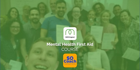 Mental Health First Aid Course in Altrincham on the 15th & 16th June tickets