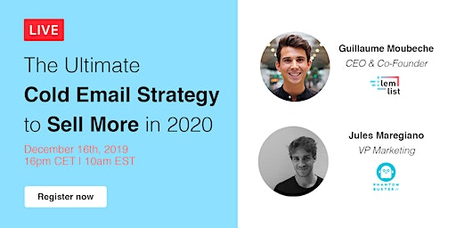 [#lemlist Webinar] The Ultimate Cold Email Strategy to Sell More in 2020