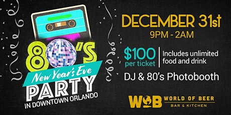 Back to the 80's NYE Party! tickets