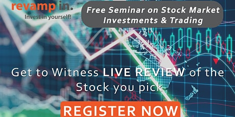 Free Seminar on Stock Market Investments & Trading| Live Review tickets