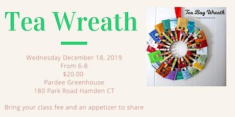 DIY Tea Wreath tickets