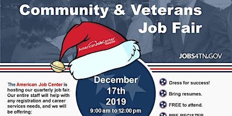 American Job Center Community & Veterans Job Fair tickets