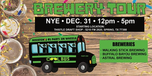 Cool Bus Houston NEW  YEARS EVE Brewery Tour - 12/31