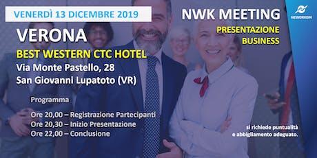 MEETING PRESENTAZIONE BUSINESS - NEWORKOM COMMUNITY - VERONA biglietti