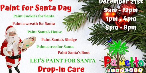 Palmetto PlayCare Paint for Santa Day