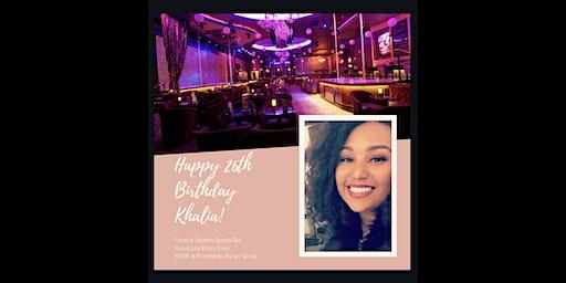 Khalia's 26th Birthday Celebration