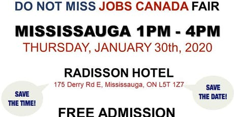Mississauga Job Fair -  January 30th, 2020 tickets